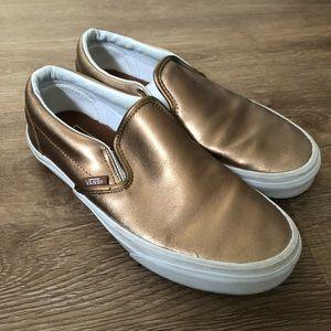 Metallic gold/bronze vans